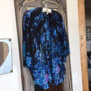 Express Kimono- Beautiful sheer floral  blouse